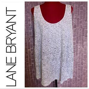 Reverse-Leopard Print Knit Tank Top